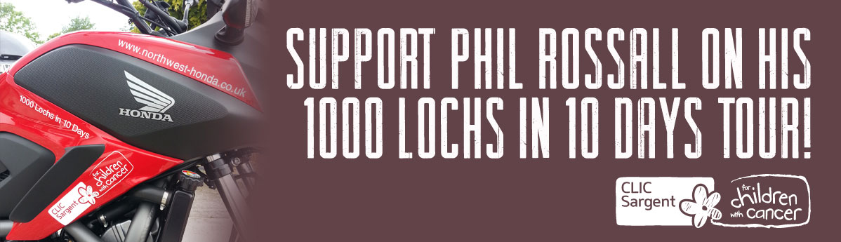 Phil Rossall to complete 1000 Lochs in 10 days tour Banner