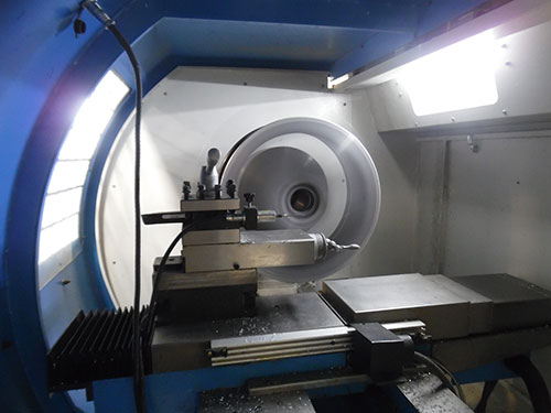 Image showing the inside of the CNC Machine