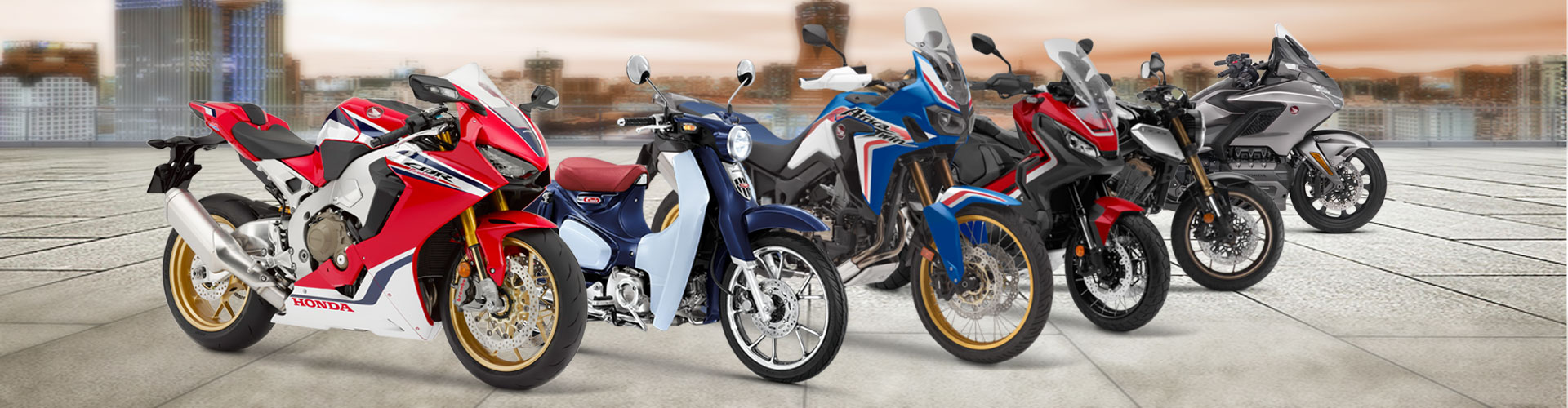 Range of Honda Motorcycles