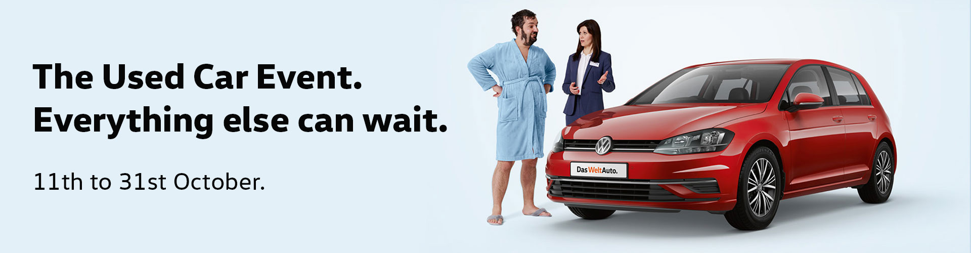 VW Used Car Event: 11th October to 31st October.